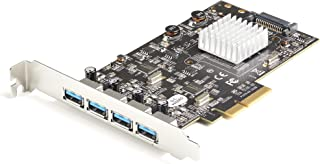 4-Port USB PCIe Card - 10Gbps USB 3.1/3.2 Gen 2 Type-A PCI Express Expansion Card with 2 Controllers - 4X USB-A - USB PCIe...
