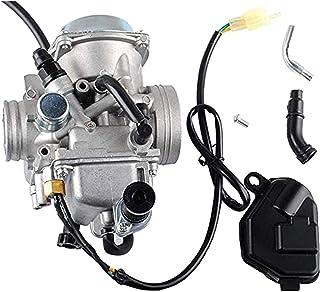 Carburador Weiqu TR-X 350 para Hon-da 350 Rancher 2000-2006 FE/FM/TE/TM/ES Atv 4 tiempos con base negra del acelerador, para deshierbe de jardín