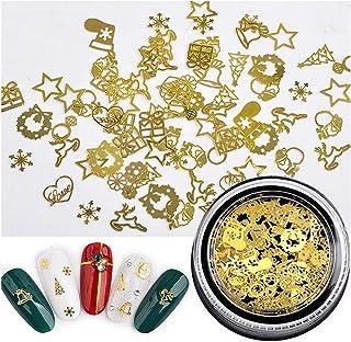 CCINEE Christmas Golden Nail Sequins Metal Nail Art Decoration -1box