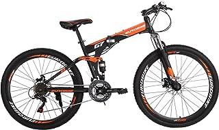 Eurobike Folding Mountain Bike 21 Speed Full Suspension Bicycle 27.5 inch MTB