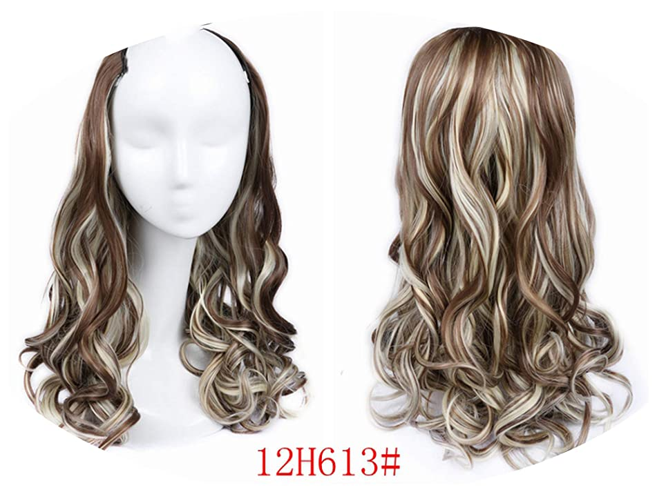 Cherryi U Part Clips In Wavy Hair Extension Half Wig For Women High Density Temperature,12H613,22inches