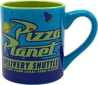 Silver Buffalo PX120332 Pixar Pizza Planet Ceramic Mug, 14-Ounce, blue