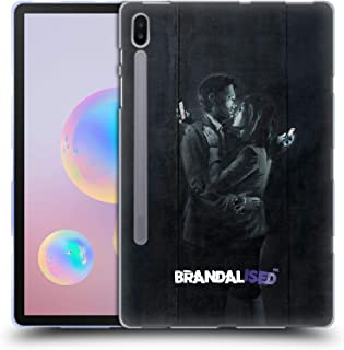 Official Brandalised Mobile Phone Lovers Banksy Art Street Tags Soft Gel Case Compatible for Samsung Galaxy Tab S6 (2019)