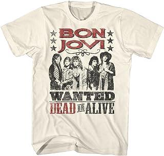 BON JOVI ボン・ジョヴィ (デビュー35周年記念) - DEAD OR ALIVE/バックプリントあり/Tシャツ/メンズ 【公式/オフィシャル】