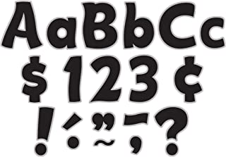 Teacher Created Resources Black & Silver Funtastic Font 4-Inch Letters Combo Pack (5343)