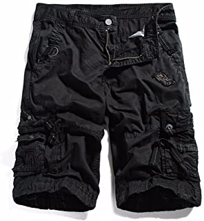 KEYBUR Cotton Twill Army Cargo Multi-Pocket Shorts Outdoor Wear Lightweight