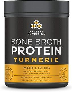 Ancient Nutrition Bone Broth Protein Powder, Turmeric Flavor, 20 Servings