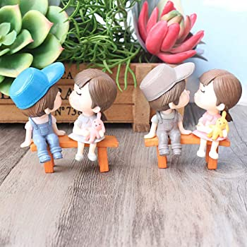 P S Retail Sweety Lovers Couple Figurines Miniatures (Style 3)