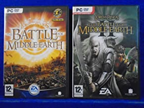 LORD OF THE RINGS Battle Middle Earth x2 Games I + II 1 + 2 PAL UK REGION FREE - PC