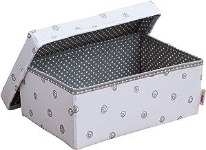 Grau mit wei/ßen Wellen Minene 1234 Aufbewahrung Box Klein 32 x 21 x 12 cm