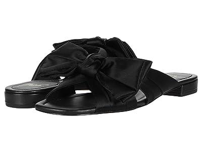 J.Crew Satin Bow Leather Lucy Slide (Black) High Heels