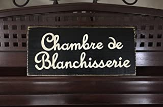Ruskin352 Chambre de Blanchisserie Laundry Room French Cottage Chic Country Home Sign Plaque Wooden Sign Hand Painted