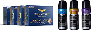 Park Avenue Luxury Fragrant Soap, 125g (BUY 3 GET 1) And Park Avenue Classic Deo Set For Men (Combo Of 3)