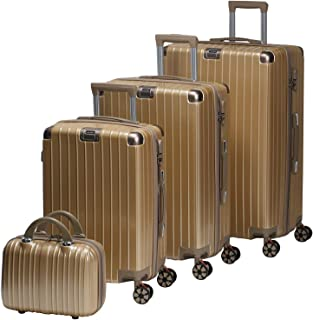 Chalish Luggage Trolley Bags for unisex 5pcs, Brown