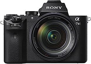 Sony Alpha 7 II - Cámara evil de fotograma completo con objetivo Zoom Zeiss 24-70mm f/4.0, 24.3 Megapíxeles, enfoque automático híbrido rápido, estabilización de imagen óptica de 5 ejes