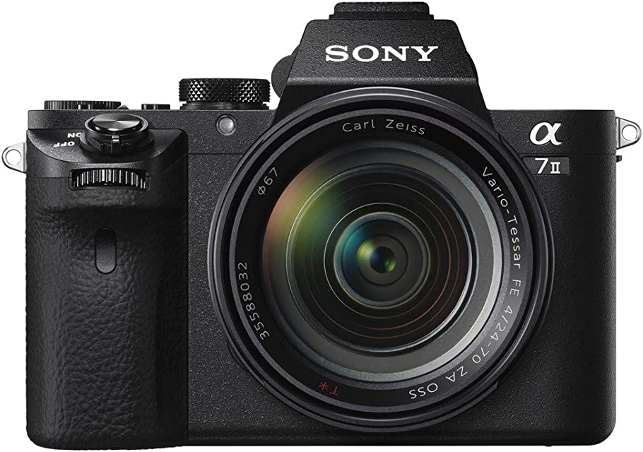 Sony Alpha ILCE7M2ZBDI - Cámara Full Frame de 24.3 MP (estabilizador de 5 ejes vídeo Full HD Wifi y NFC kit con lente Zeiss 24-70 mm ZA OSS) Negro