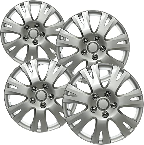 lowest Hub-caps for 14-15 Hyundai Elantra new arrival (Pack of 4) Wheel Covers 16 inch Snap On lowest Silver sale