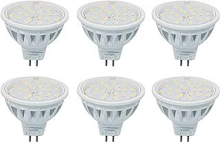 Equivalente 60W Luz Halógena Mr16 LED Bombillas Gu5.3 Spotlight 6000K Blanco Frío 600LM AC/DC12V 6 Piezas.(Segunda generacion)