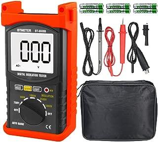 デジタル絶縁抵抗計BTMETER BT-6688B 試験電圧5000V測定、最大750VのAC電圧、絶縁抵抗測定器200Gオーム、高電圧表示灯付き 日本語取扱説明書付き