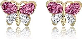 Best solid 14k gold swarovski elements crystal stud earrings Reviews