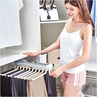 OFFA Cintres Pantalons Hanger Rangement Dressing Porte Porte Pantalons Extractible pour Rangement Dressing Coulissant Pant...