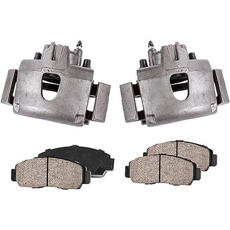 COEK00035 2 FRONT Premium Loaded OE Caliper Assembly Set Quiet Low Dust Ceramic Brake Pads