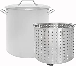 Best 100 quart stock pot with lid and basket Reviews