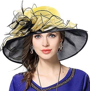 Women Floral Wedding Dress Tea Party Derby Racing Church Hat