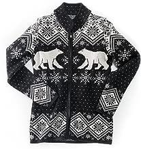 Vrikke Women's Norwegian Merino Wool Polar Bear Cardigan Sweater
