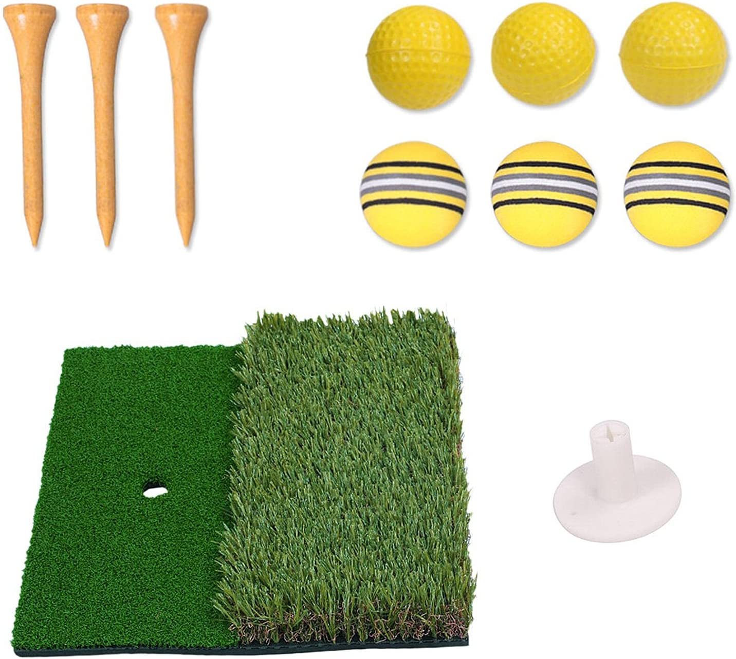 Latest item Brteyes Golf Hitting Mat Portable Practice Gra free shipping Training