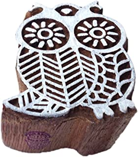 Attractive Owl Bird Pattern Wooden Block Stamp - DIY Henna Fabric Textile Paper Clay Pottery Block Printing Stamp