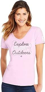 Hanes Women's Short Sleeve V-Neck T-Shirt