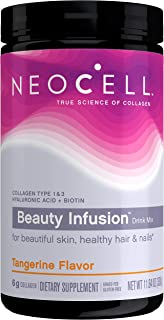 NeoCell Beauty Infusion Collagen Supplement Drink Mix Powder Collagen Types 1 & 3 - Gluten Free & Non-GMO, Tangerine Flavo...