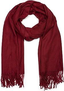 /écharpe dhiver styleBREAKER Ch/âle pour femme avec motif abstrait /à fleurs et franges /étole foulard 01017094