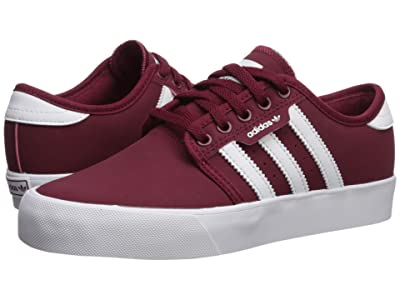 adidas Skateboarding Seeley J (Little Kid/Big Kid) (Collegiate Burgundy/Footwear White/Footwear White) Skate Shoes