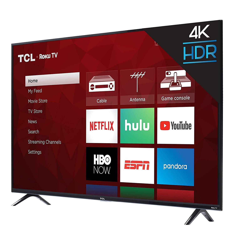 TCL 43S423 - Televisor LED 4K Ultra HD Smart Roku (43 pulgadas, 2018): Amazon.es: Electrónica