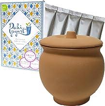 素焼きヨーグルトメーカー & ダヒ・ヨーグルト種菌 5包 インド式ヨーグルトセット