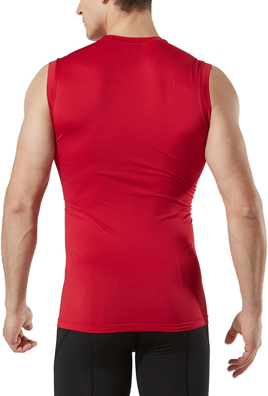 Dry Fit Running Compression Cutoff Shirts Athletic Training Tank Top TSLA 1 or 3 Pack Mens Sleeveless Workout Shirts
