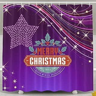 ShenigonChristmas Label Waterproof Fabric Shower Curtain 60