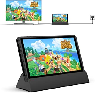 Switch Dock Compatible with Nintendo Switch, Replacement for Nintendo Switch Dock TV Dock Station Portable Charging Dockin...