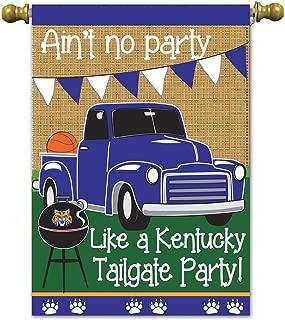 Magnolia 01913 Ain't Like a Kentucky Tailgate Party Basketball Burlap Garden Flag, 13
