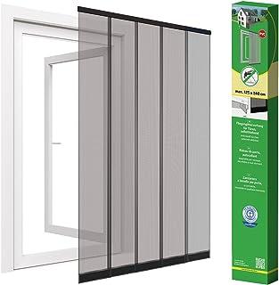 Cortina de puerta mosquitera para puerta de discos de hasta 125 x 240 cm, negro