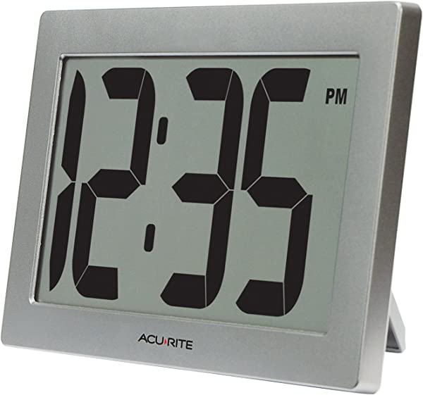 AcuRite 75102 9 5 Large Digital Clock With Intelli Time Technology