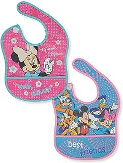 Disney Why, Hello! Pack de 2 baberos de lujo, Fucsia/multicolor, Una talla
