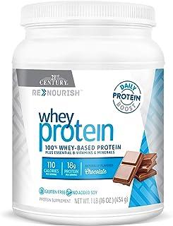 21st Century Renourish Wellness Protein Powder, Chocolate, 1 Pound (27850)