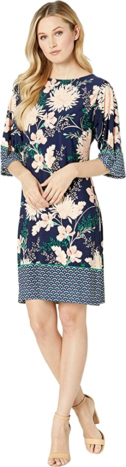 Kimono Sleeve Shift Dress