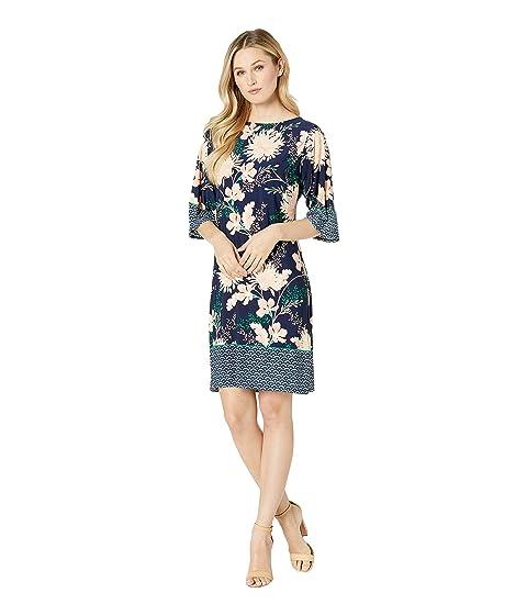 London Times Kimono Sleeve Shift Dress Navyblush Modesens