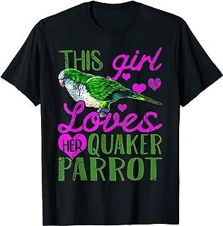 Quaker Parrot Shirt Girl Pet Bird Funny Gift T-Shirt