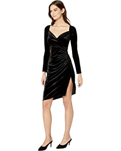 KAMALIKULTURE Womens Side Draped Dress
