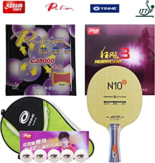 DHS / YINHE/Palio Hand Assembled Professional Table Tennis Racket - Professional Ping Pong Paddle Combination – YINHE N10-S Table Tennis Blade Hurricane 3 and Palio CJ8000 Table Tennis Rubber